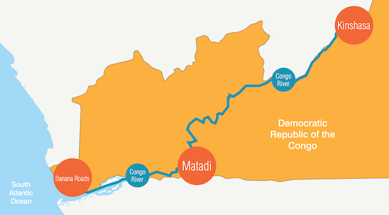 Matadi, located on the left bank of the Congo River, 92 miles upstream, is the closest port gateway to the DRC capital of Kinshasa and offers major savings in overland transportation.