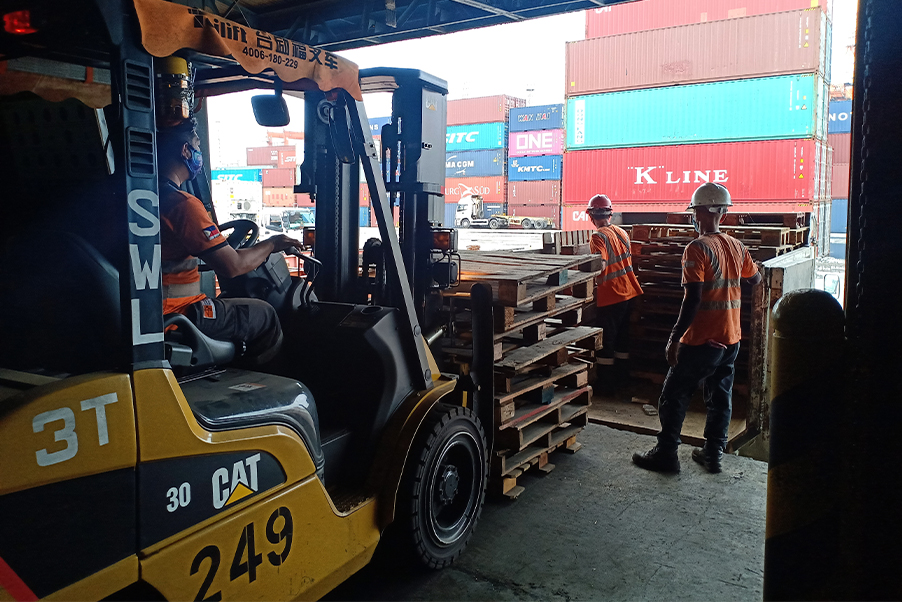 MICT donates wooden pallets for COVID isolation tents | ICTSI